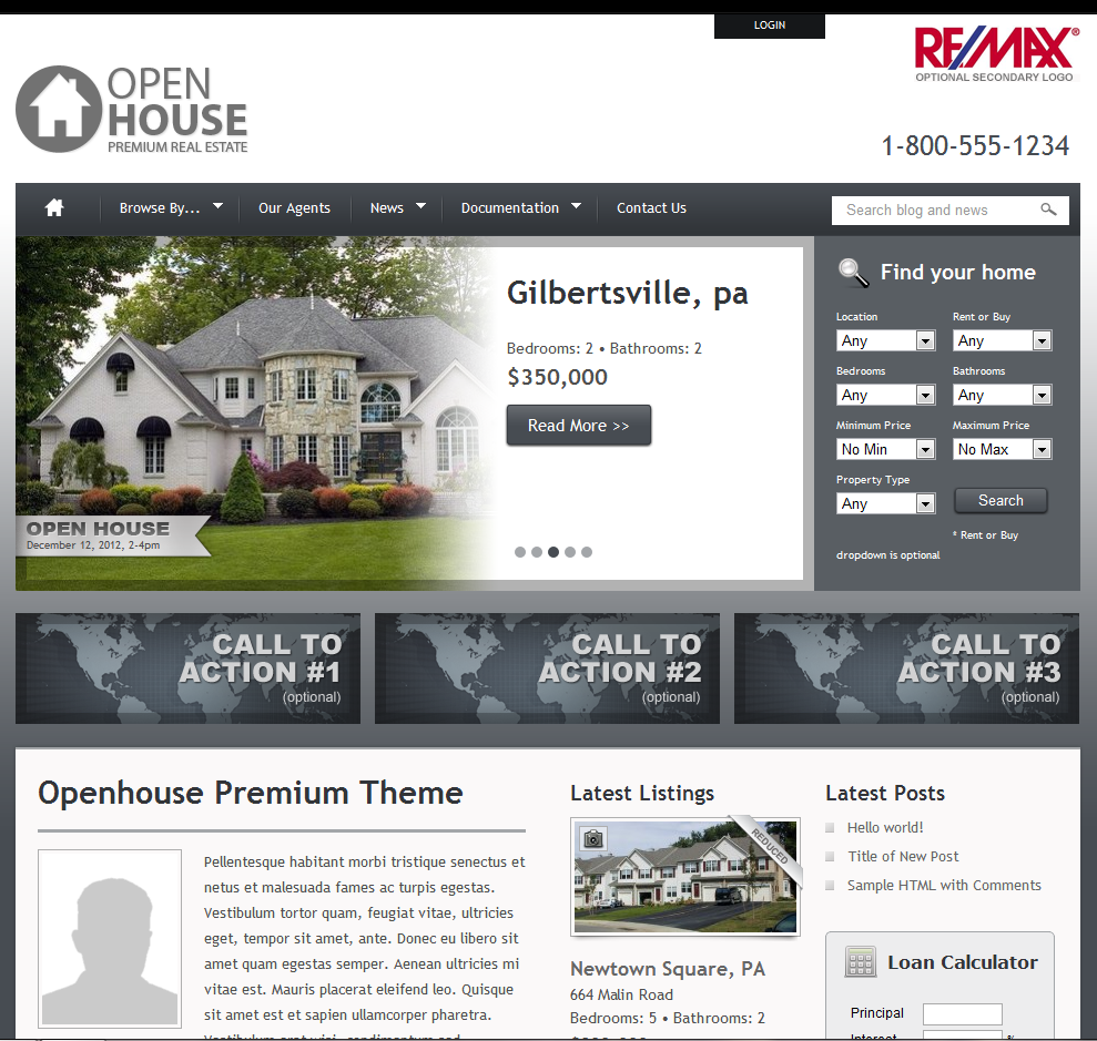 Wordpress Theme - Real Estate Agent